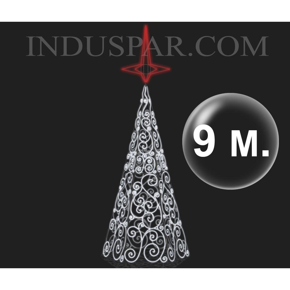 Arvore de Natal Gigante Mod 27 Led - Arabescos -  Altura 5 à 8 Mts