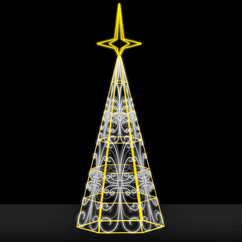 Ref: 040 - Arvore de Natal Gigante Led Cintilante - (Alturas de 4,0 a 36,0 metros)