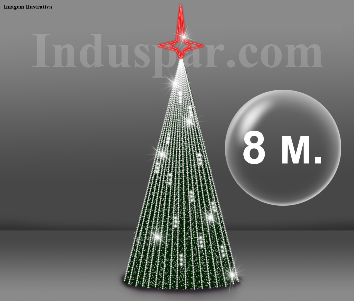 �rvore de Natal Gigante 8 Metros Modelo GLAMOUR - Kit F�cil Extensivel