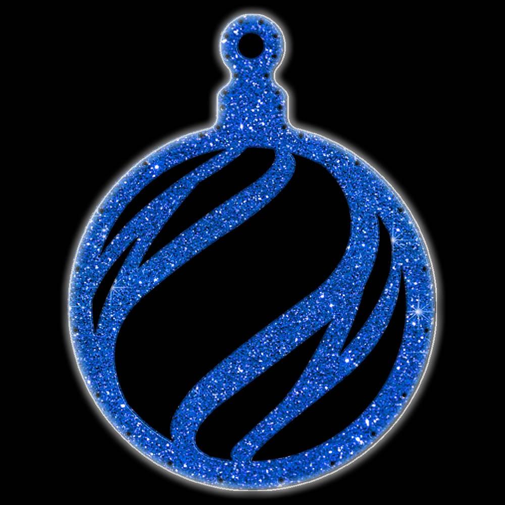 Bola de Natal  52 cm Gigante Iluminado LED Decoração para Dia e Noite - BN06-DN