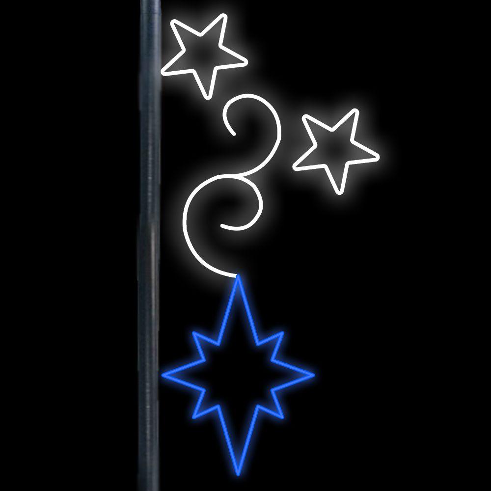 FI-282 - Decoração Lateral Poste Rama de Estrelas - MED 1,80 X 0,85 MT