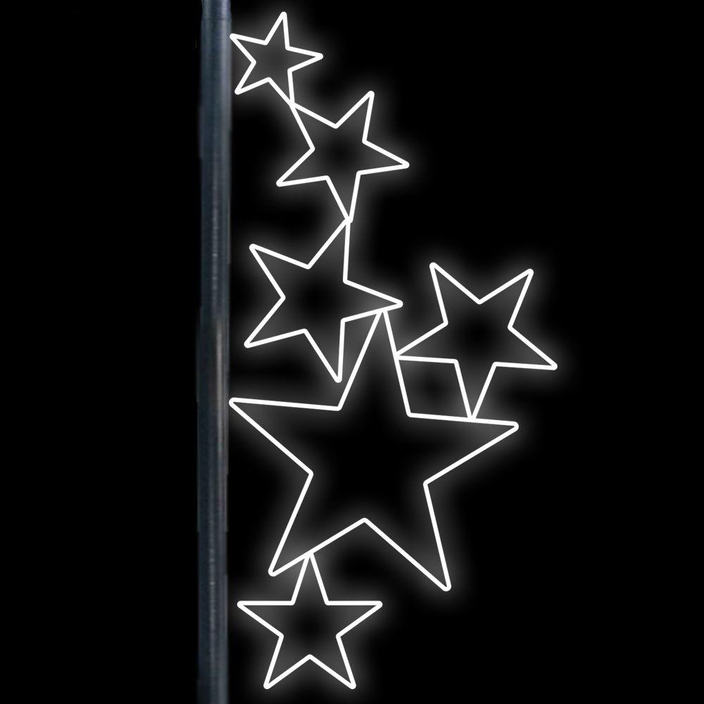 FI-285 - Decoração Lateral Poste 6 Estrelas Verticais - MED 1,80 X 0,86 MT