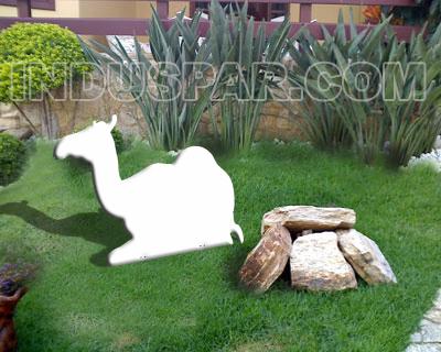 Camelo para Presépio Linha Branco Elegance - Medidas 0,78 mt x 0,98 mt