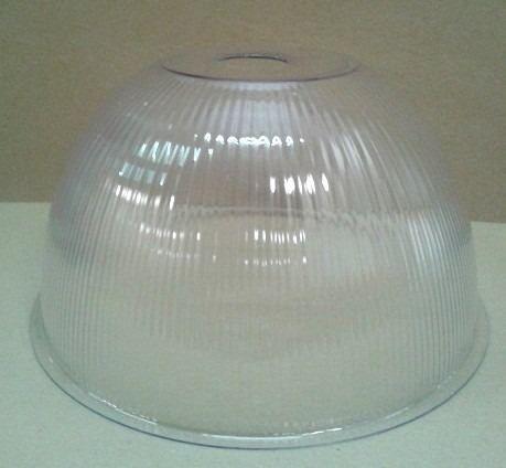 Reposição Difusor Luminária Prismática Acrílica 12 Polegadas - Furo 40 mm
