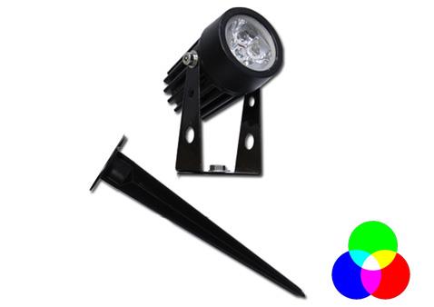 luminária Espeto para Jardim Super LED 3W RGB Bivolt