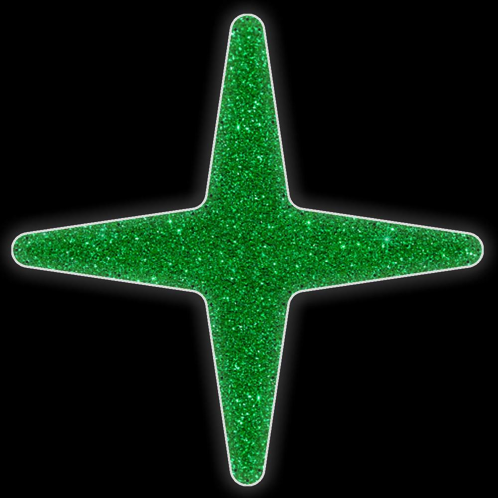 018-MD - Estrela 4 pontas Colorida - Com ou Sem Iluminação