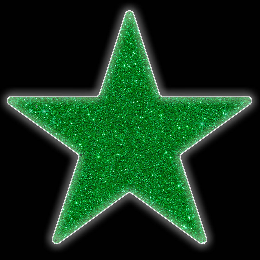 014-MD - Estrela 5 pontas Padrão Colorida - Com ou Sem Iluminação