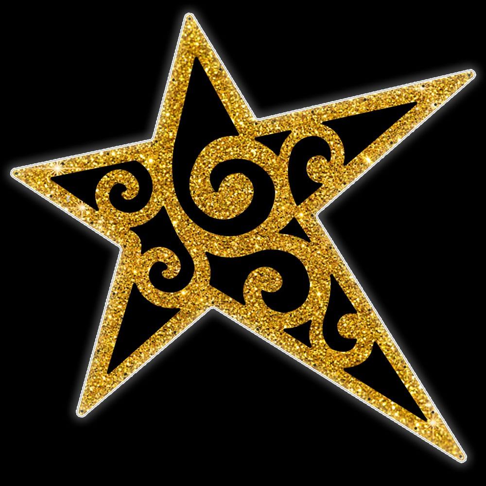 015-MD - Estrela 5 pontas Eliot Colorida - Com ou Sem Iluminação