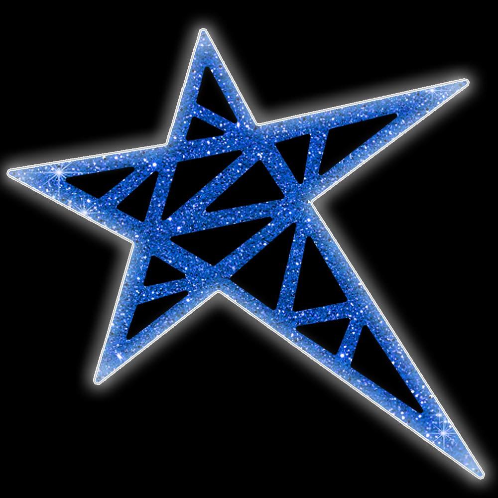 Ref: 112 - Decoração Color Mdf Estrela 5 pontas Sudão