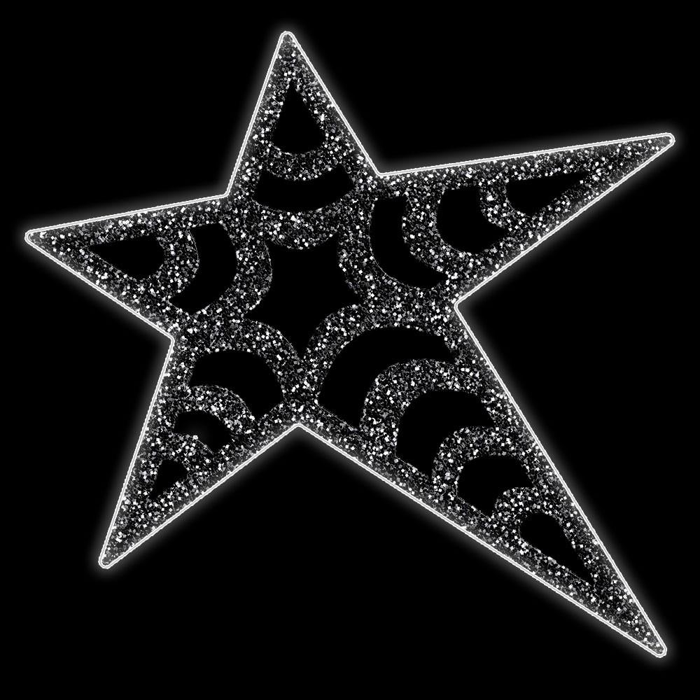 012-MD - Estrela 5 pontas Suez Colorida - Com ou Sem Iluminação