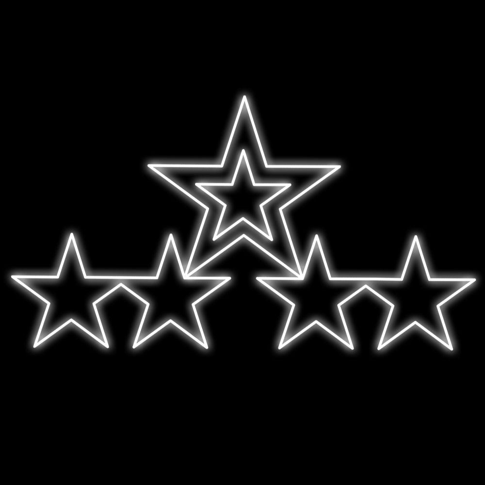 FI-031 - Conjunto Estrelas Iluminadas Led  (veja opções)