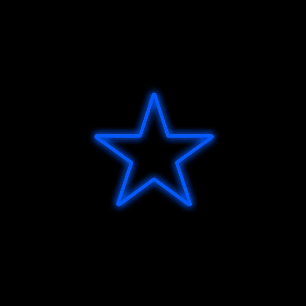 FI-052 - Estrela 5 Pontas  40 cm Metálica Iluminada Led - Cores