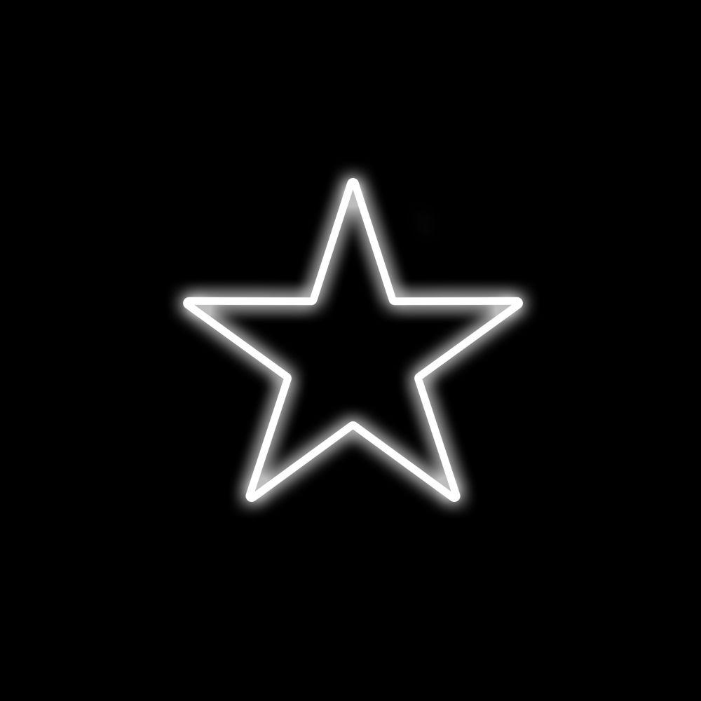 FI-053 - Estrela 5 Pontas  50 cm Metálica Iluminada Led - Cores