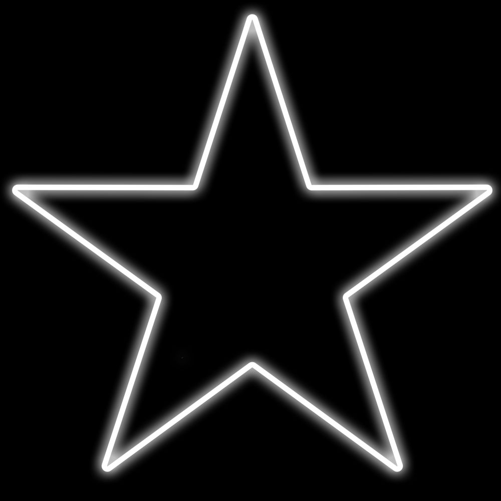 FA055 -  Estrela 5 Pontas 100 cm Metálica Iluminada Led - Cores