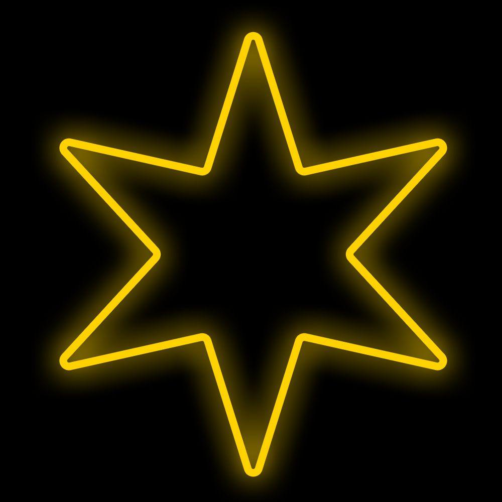 FI-056/050 - Estrela 6 Pontas 50 cm Metálica Iluminada Led - Cores