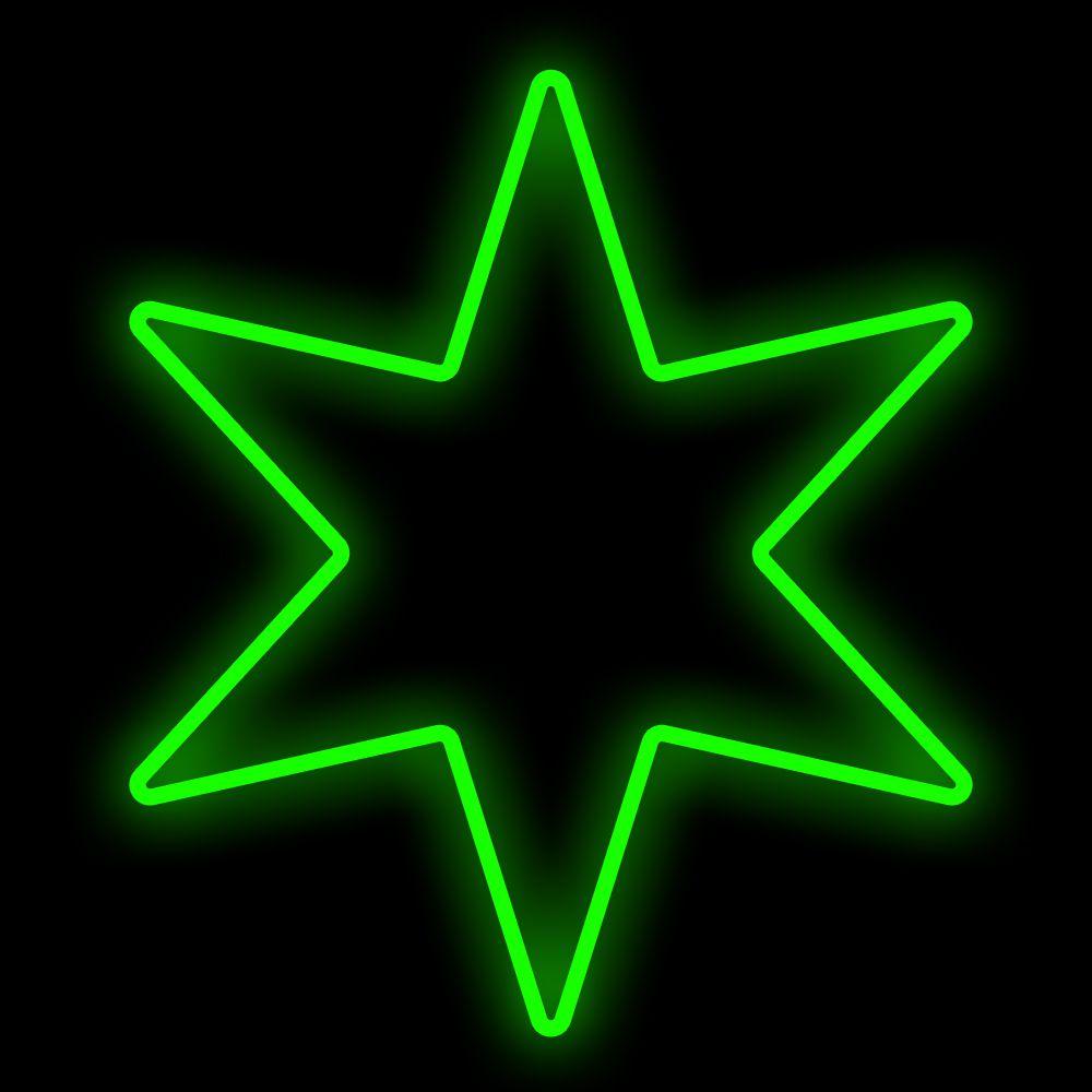 FI-056 - Estrela 6 Pontas Metálica Iluminada Led - MED 1,50 MTS