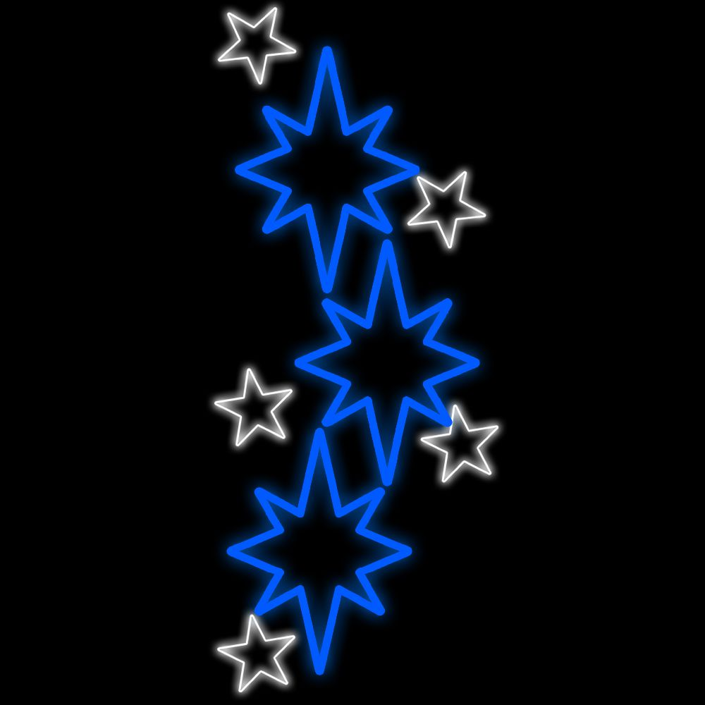 FI-065 - 8 Estrelas Iluminadas Led  (Veja opões)