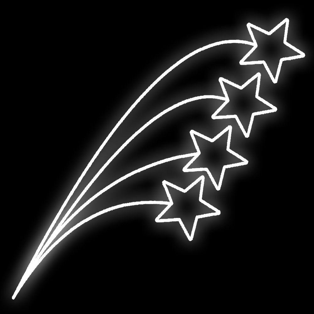 FI-097 - Curvas Estreladas Led - MED 2,00 x 0,74 mts