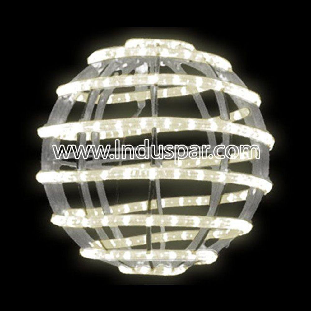 FI-134 - Bola de Natal  30 cm Gigante Led Esfera Espiral 3D