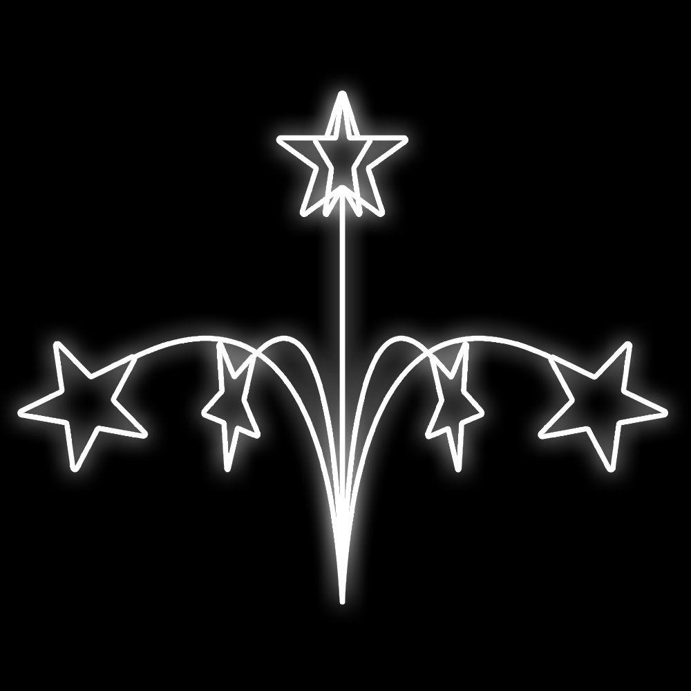 FI-164 - Decoração Natalina metálica Estrela crescente - Tam. 1,20 X 1,50 mts
