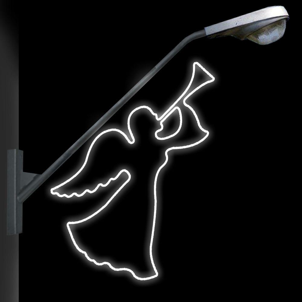 FI-001 - Anjo com Corneta Metálico Iluminado Led (veja opções)