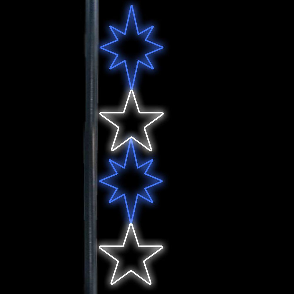 FI-067 - Conjunto de Estrelas Iluminadas Led (Veja opões)