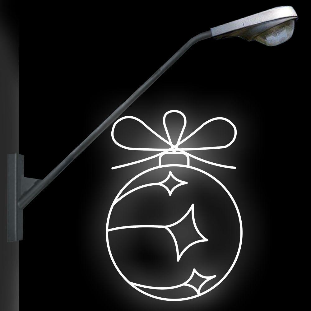 FI-108 - Decoração Metálica Iluminada LED - Bola Ornamento - MED 1,12 X 0,80 MTS