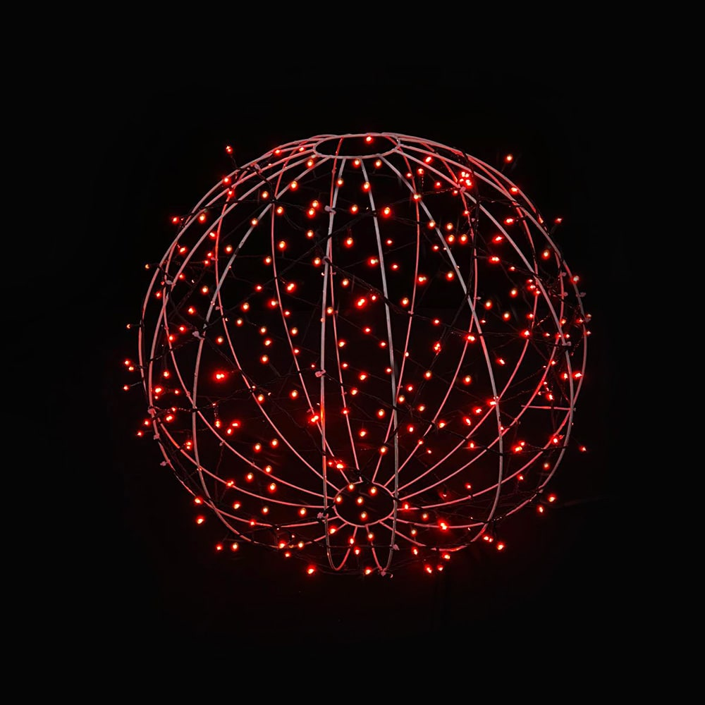 FI-131/020 - Bola de Natal  20 cm Esfera Gigante 3D Iluminada Led