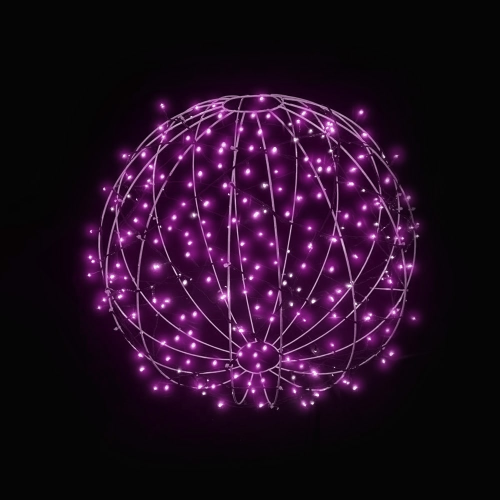 FI-131/030 - Bola de Natal  30 cm Esfera Gigante 3D Iluminada Led