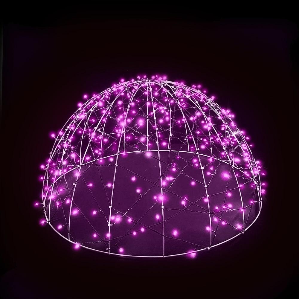 FI-132/070 - Meia Bola de Natal | 70 cm | Esfera Led 3D