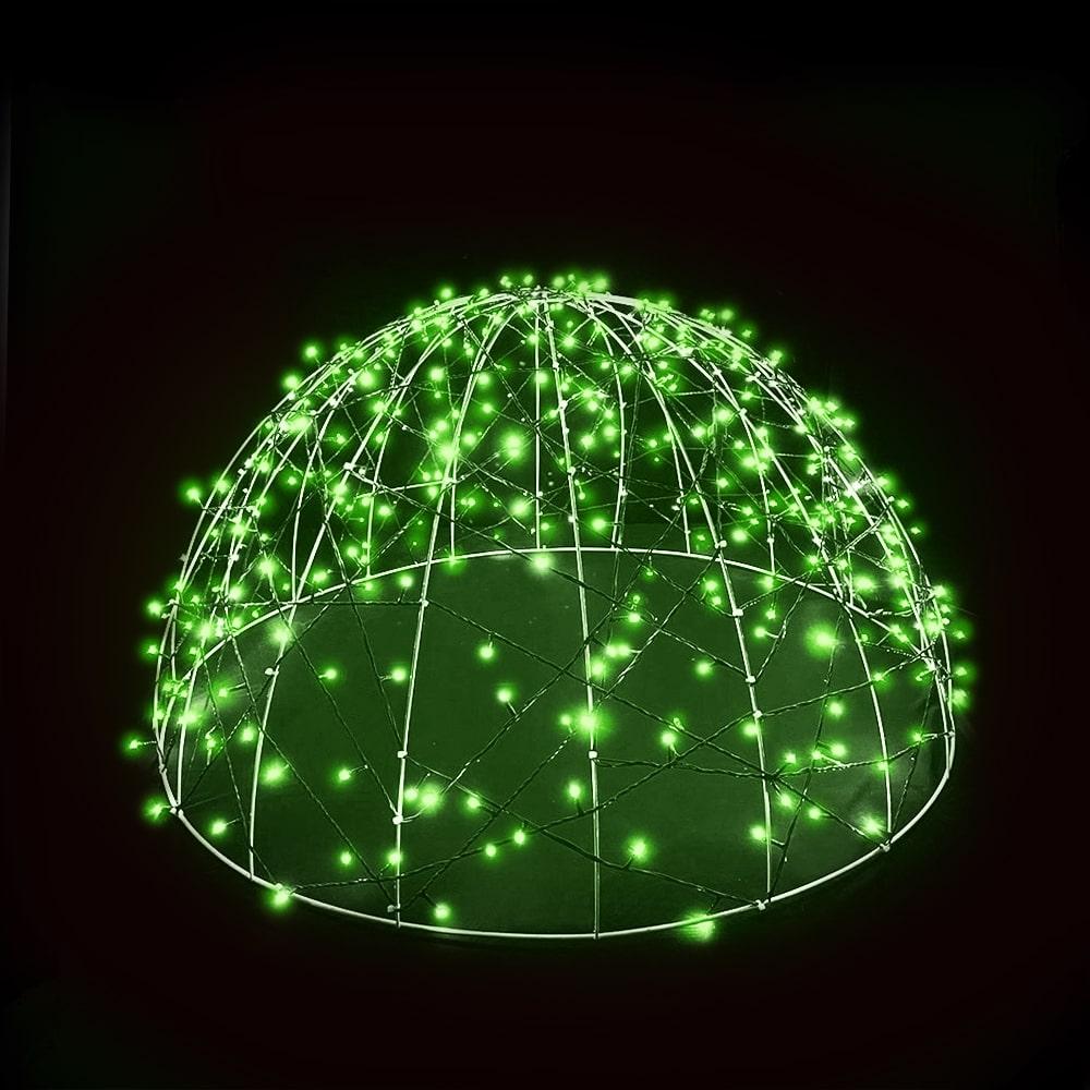 FI-132/120 - Meia Bola de Natal   1,20 Metros   Meia Esfera Led 3D