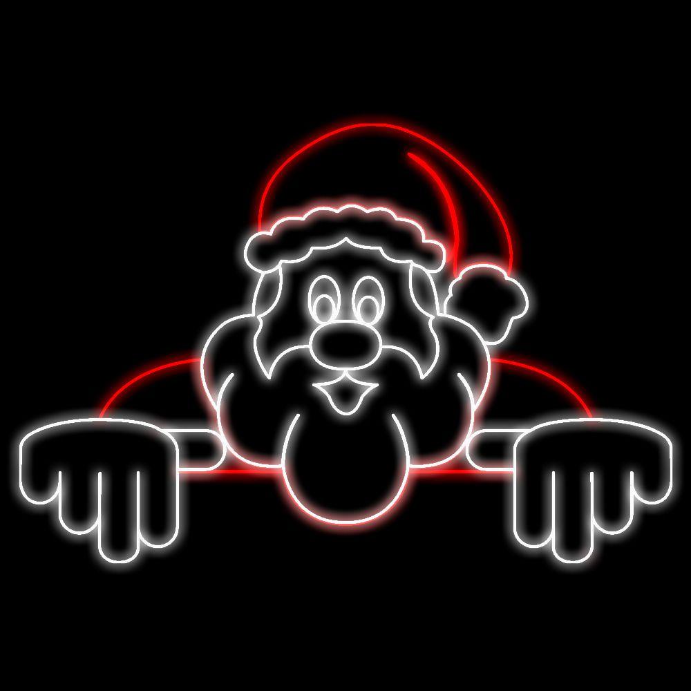FI-150 - Papai Noel Telhado Metálico Iluminado Led - Diversos Tamanhos