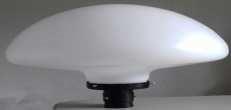 G-IG13R - Globo 53cm Cogumelo Grande com Base - Polietileno Leitoso