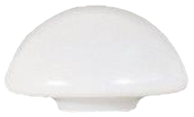 R11 - Globo 53cm Cogumelo Grande para Poste B-15 - Polietileno Leitoso