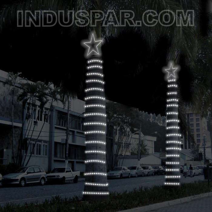 404 - Decoração Arvore Estrela 5 pontas  30 cm Kit com Rabicho Multiuso 10 Metros