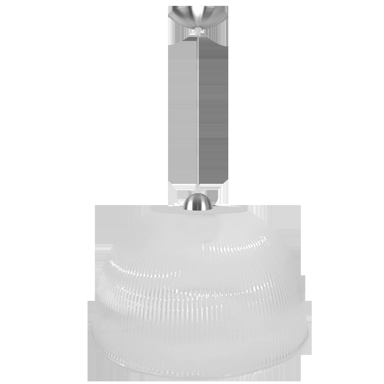 L01- Pendente Prismática 22 Pol Branca Leitosa - Alumínio - E27