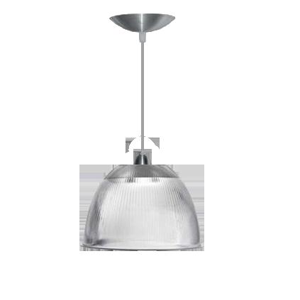 L01- Pendente Prismática 12 Pol Cristal - Alumínio - E27