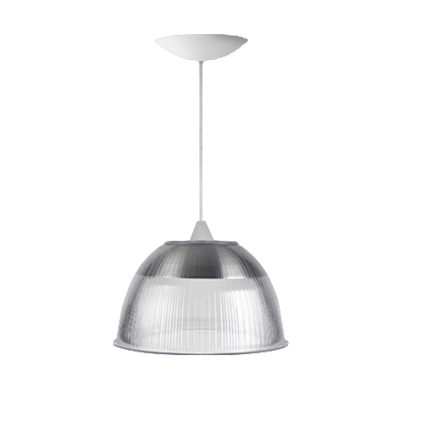L01- Pendente Prismática 12 Pol Cristal - Branco - E27