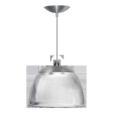 L01- Pendente Prismática 16 Pol Cristal - Alumínio - E27