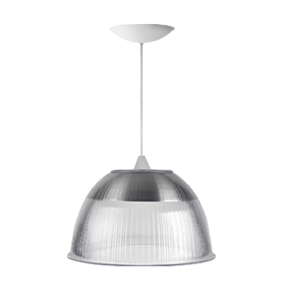 L01- Pendente Prismática 16 Pol Cristal  - Branco - E27