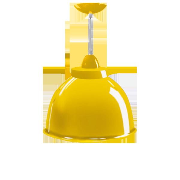 Luminária Pendente Alumínio 12 Pol em Cores Diversas - L02-12AL