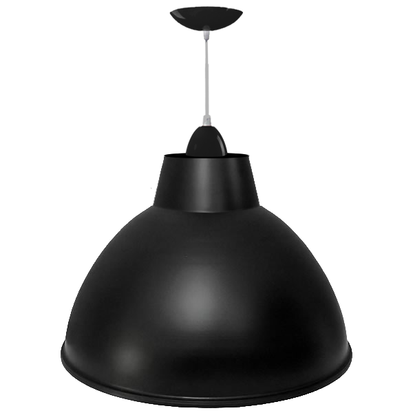 L02- Luminária Pendente Alumínio 20 Pol em Cores Diversas