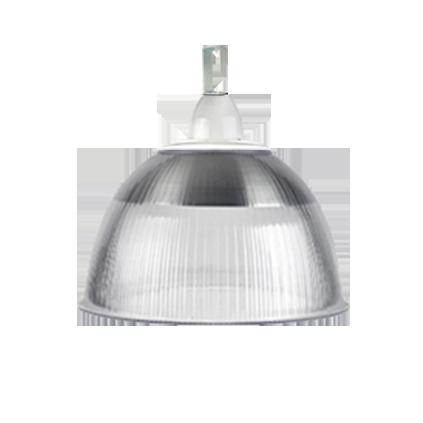 L04- Luminária Prismática 12 Pol Cone e Gancho e Difusor Cristal
