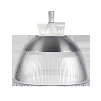 L04- Luminária Prismática 16 Pol Cone e Gancho e Difusor Cristal