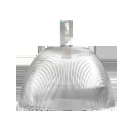 L05- Luminária Prismática 16 Pol Prato e Gancho Difusor Cristal