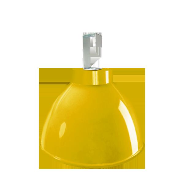 L06- Luminária de Alumínio Gancho e Refletor 16 Pol  com Cores Diversas