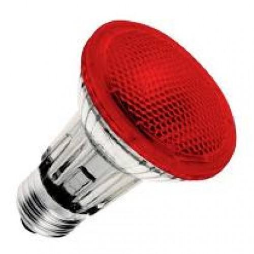 Lâmpada PAR 20 Halógena 50W E27 Vermelha