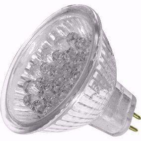 Lâmpada Dicróica Led MR16 GX6,35 Branco Morno 20 Led 220V