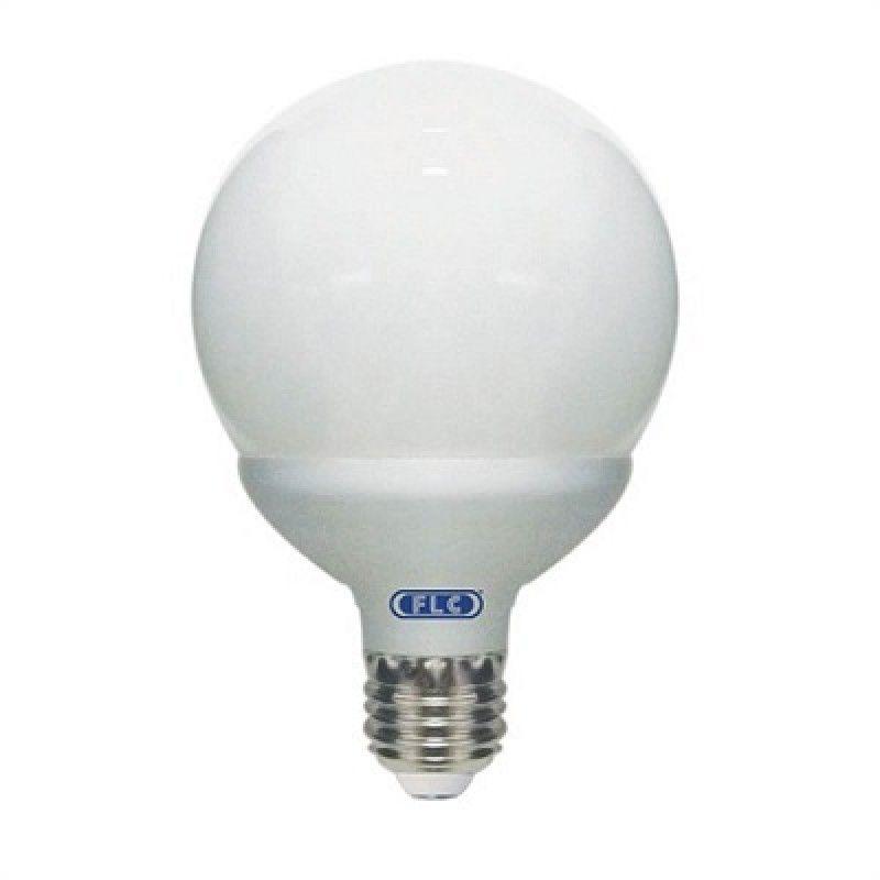 LL01T - Lâmpada Econômica  15W Branca Morna 220V Globo Leitoso FLC