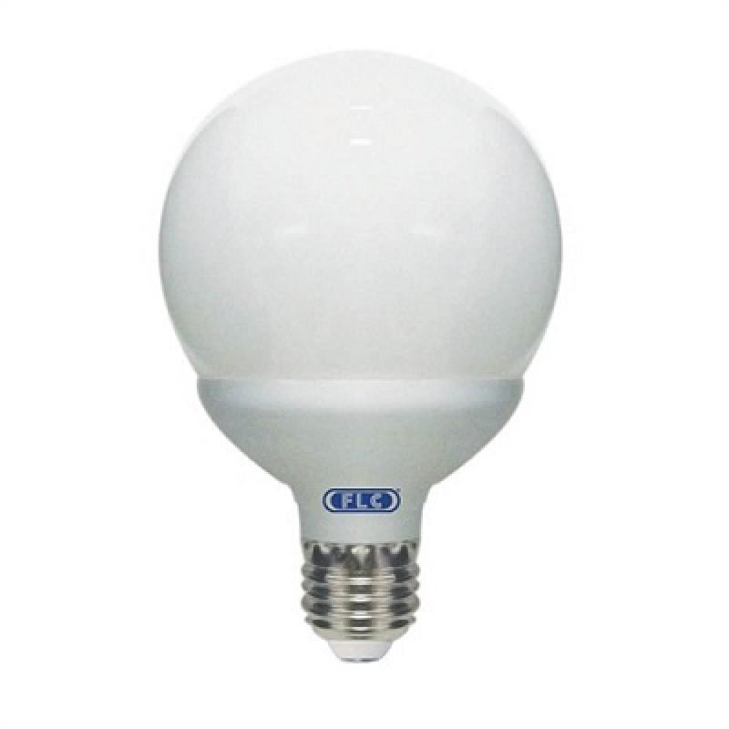 LL01T - Lâmpada Econômica  15W Branca Fria 220V Globo Leitoso FLC